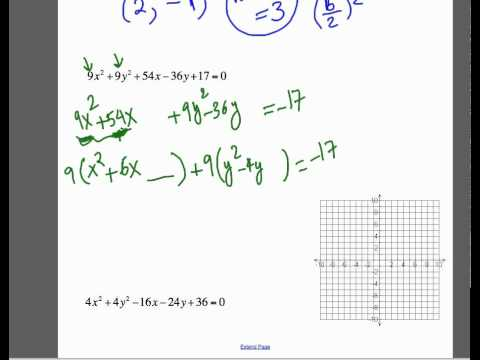 Find Center and Radius of Circle and Graph the Circle.