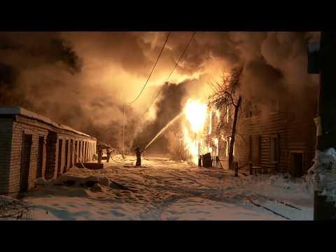Пожар в Камешково на ул.Ногина д.13