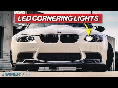 BMW E90 M3 LED CORNERING LIGHTS - INSTALLATION & BIMMERCODE!