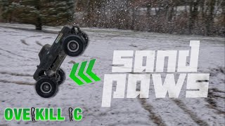"P-L 2.8"" Sand Paws Rip Through a Dusting of Snow 