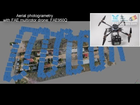 22 Waypoints autonomous navigation- 3D mapping ortho photogrammetry by Arducopter3.1 quad FAE drones