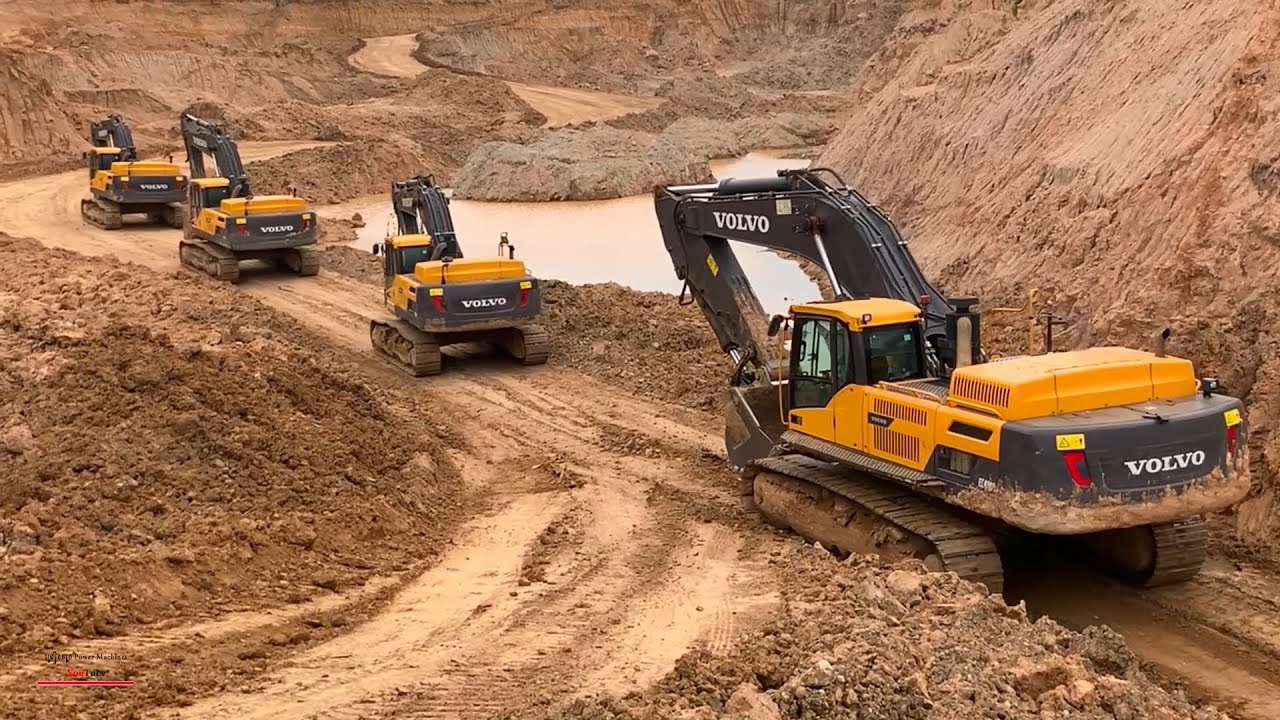 Download Wow Power Machines Dirt Loading Into Dump Trucks With Volvo EC380DL Excavator