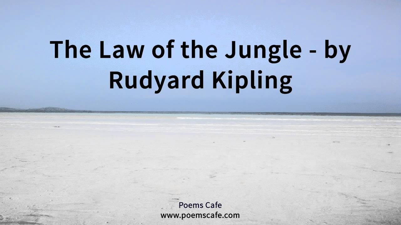 law of the jungle kipling