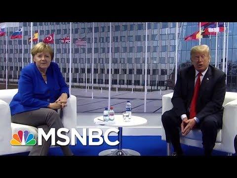 President Trump Meets With Chancellor Merkel After Criticizing Germany | Hallie Jackson | MSNBC