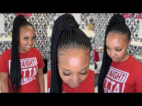 Small Updo Feed-in Braids