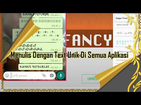 Menulis dengan Text Unik Di Semua Aplikasi    Fancy Text Pro