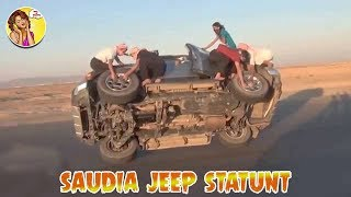 Jeep Driving Saudi | Jeep Stands two Wheels |automobile tv genre | WHat A Status