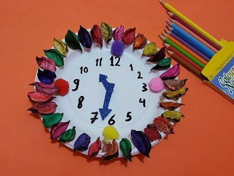 طريقة عمل ساعة حائط للاطفال بالفوم Foam Clock Youtube