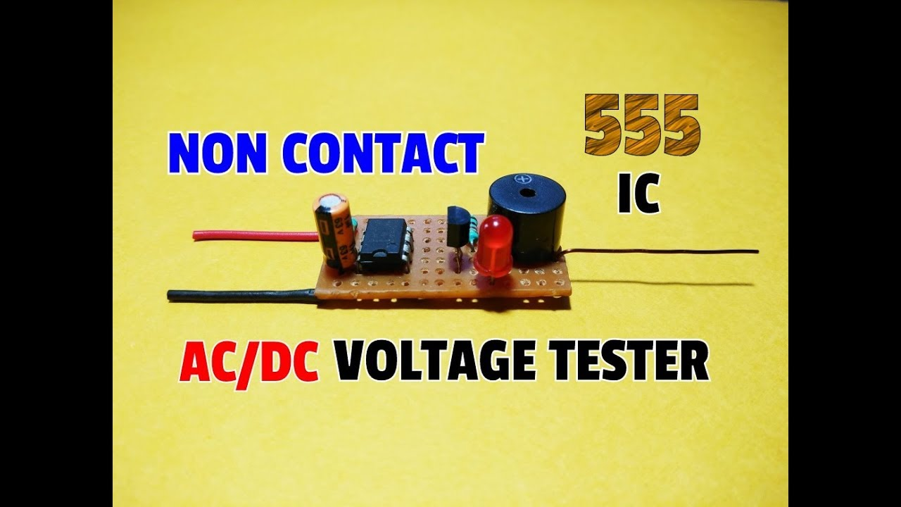 Noncontact Voltage Detector Circuits Using Transistors And Ic Contactless Ac Mains Circuit Diagram How To Make A Non Contact Dc Tester 555 Iceasily Detect