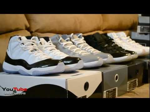 9aa1797babb8 Air Jordan Retro XI 11 2011 Concords vs 2010 Cool Greys vs 2009 Space Jams  vs Silver 11s