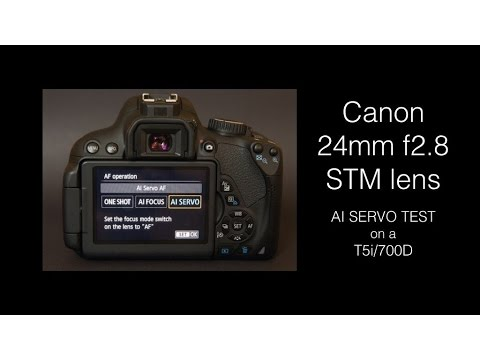 AI Servo test with Canon's 24mm STM and T5i