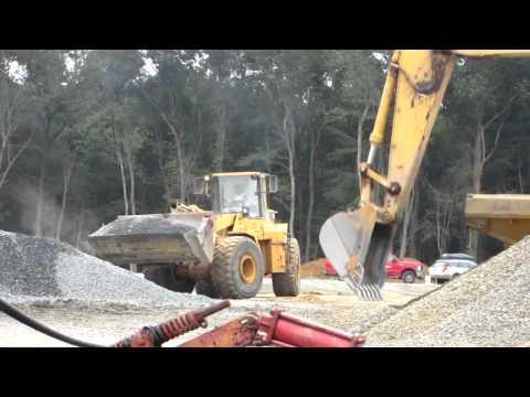 Caterpillar 966F wheel loader at work