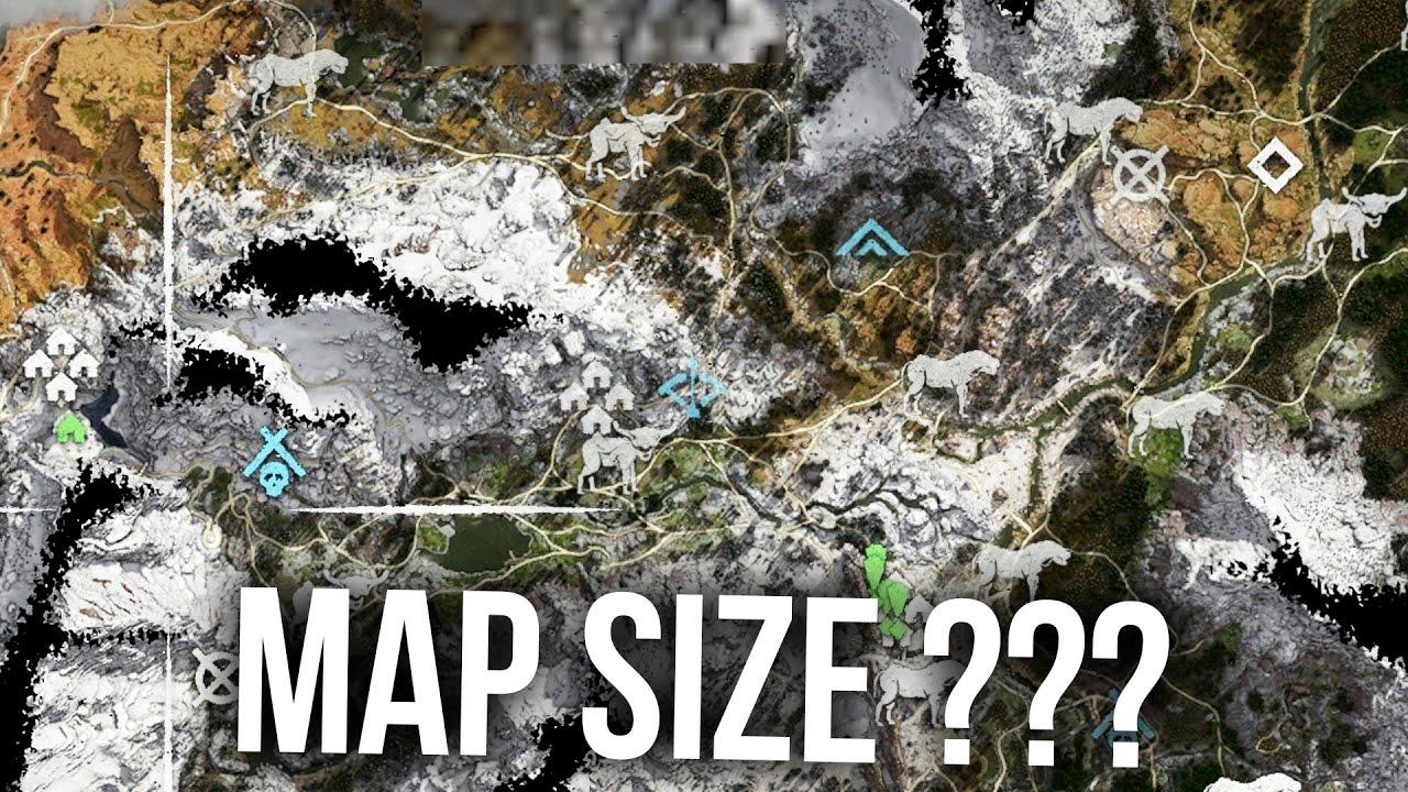 Horizon Zero Dawn Karte.Horizon Zero Dawn How Big Is The Map