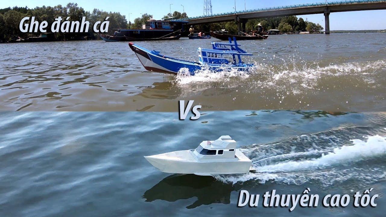 Cao tốc mô hình đua với ghe đánh cá mô hình | High-speed yacht racing with model fishing boats