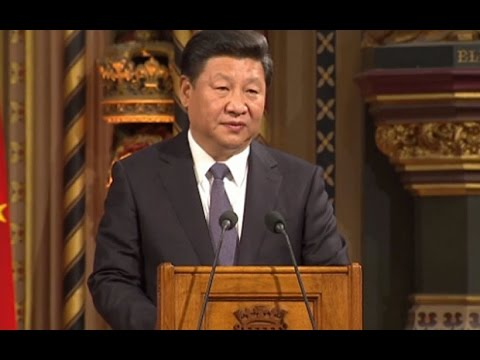 Chinese President Xi Jinping Addresses UK Parliament