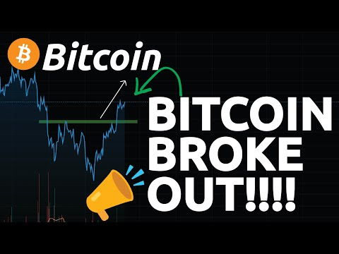 BITCOIN BROKE OUT!!! TIME FOR A RALLY ?!? LOOK AT THESE BITCOIN LEVELS!!!!