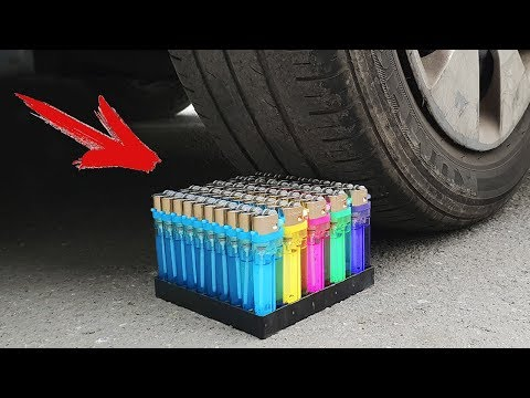 Experiment: Car Vs Lighters