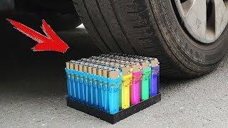 Experiment: Car Vs Lighters