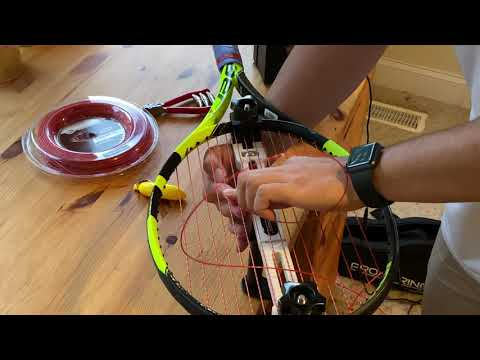 If you're a competitive player, consider investing in a stringing machine! Saves you lots of $ and keeps your performance consistent! Please consider subscribing to our YouTube channel!