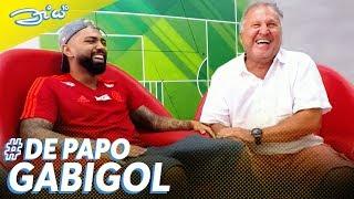 """Gabigol sobre jogar no Flamengo: """"Pressão que te ajuda a querer mais""""   Canal Zico 10"""