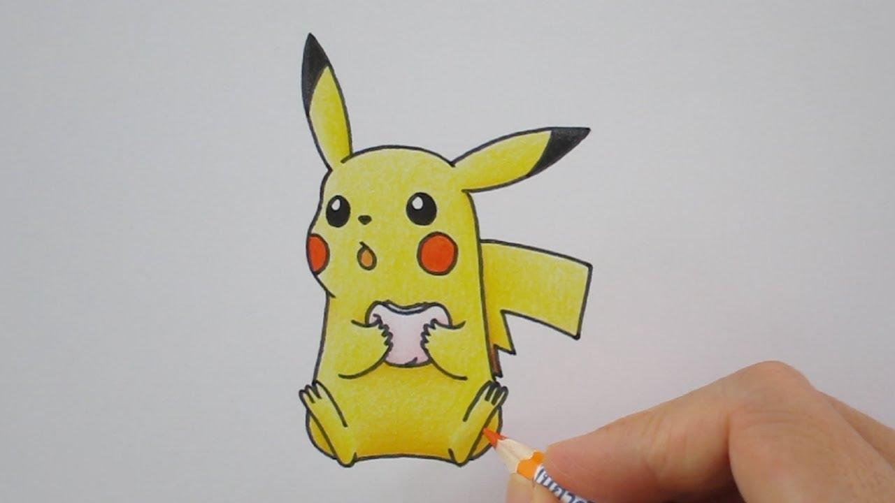 วาดรปการตน ปกาจ Pikachu Drawing จากการตน โปเกมอน Pokemon