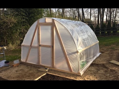 DIY Greenhouse PVC Hoop House Polytunnel Garden Homemade Cheap Low Cost $100 Build Easy Instructions