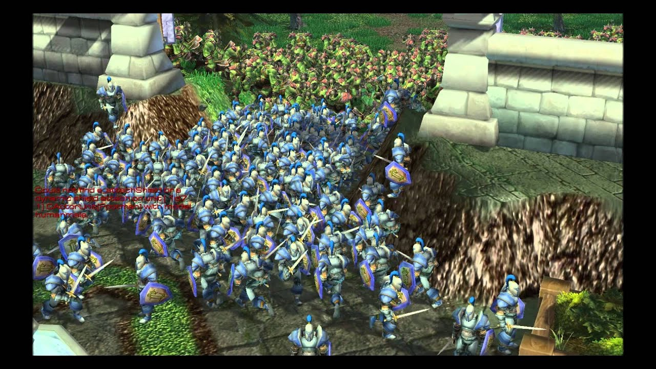 World Of Warcraft 128 Humans Vs 300 Orcs Hd Youtube