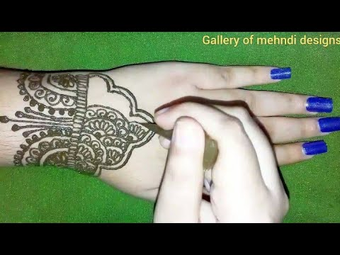 Very easy back hands mehndi design tutorial for beginners ll by Gallery of mehndi designs thumbnail