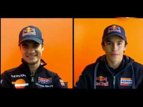 Funny interview with Dani Pedrosa & Marc Marquez