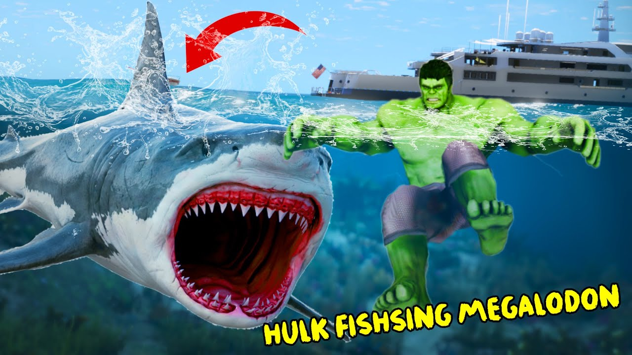 Download GTA 5 - Hulk HUNTING Megalodon Shark !!! Biggest Shark Attack City !!!