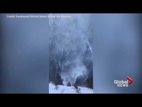 Hikers capture impressive 'Snownado' in Poland
