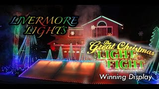 ABC's The Great Christmas Light Fight winning display by Matt Phipps