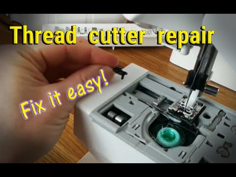 Automatic Thread Cutter Problem And Repair YouTube Beauteous Sewing Machine Auto Thread Cutter