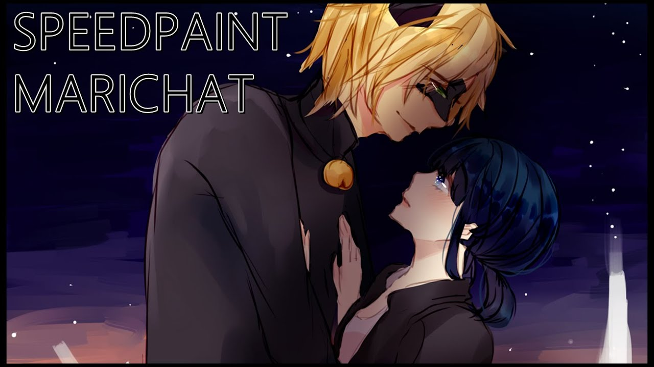 Speedpaint Marichat Miraculous Ladybug Youtube