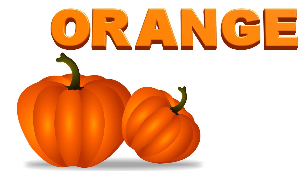 Learning Colors Color Orange For Preschool Kids And