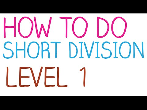 How to do Short Division - Level 1