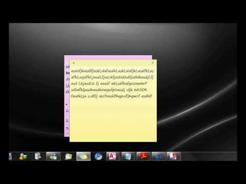 An In-depth Look At The Windows 7 Sticky Notes