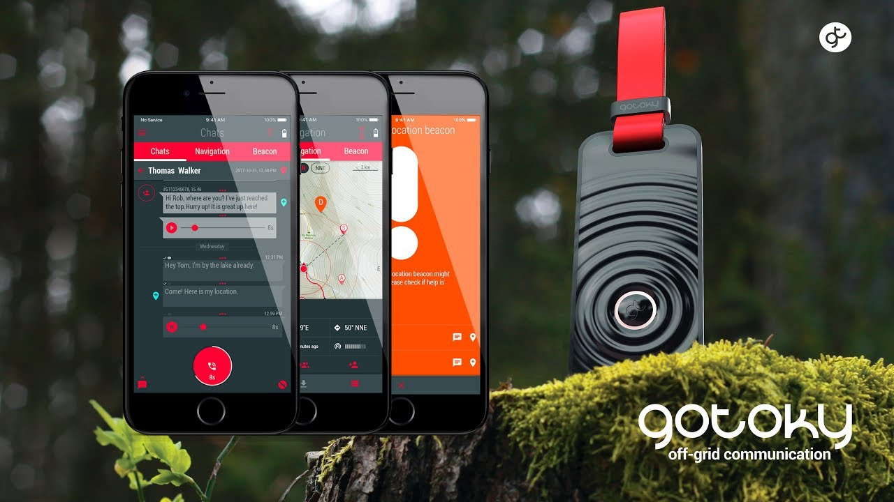 Gotoky   Secure OFF-GRID communication device for smartphone