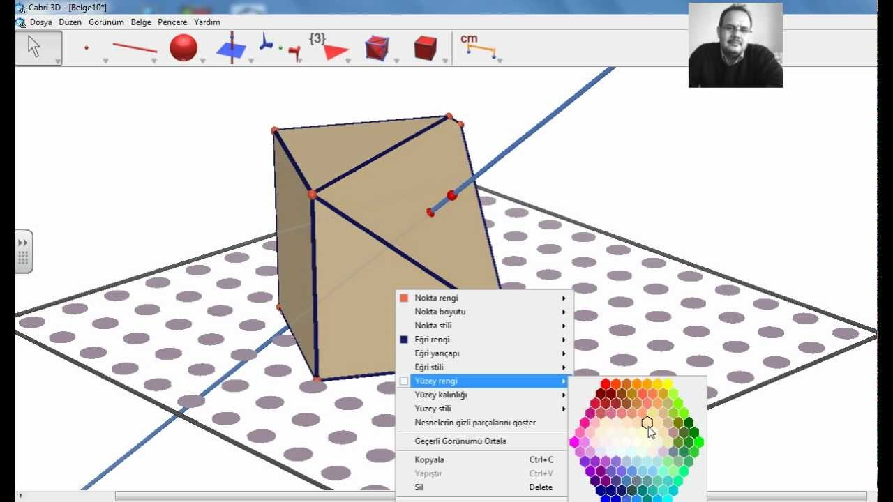 intersecting planes cube. cabri 3d cube intersection by plane intersecting planes