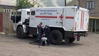 В Курахском районе специалисты Ногинского спас-го центра МЧС приступили к дезинфекции общ-ых терр-й