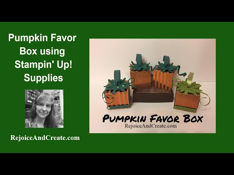 Square Pumpkin Favor with Stampin' Up! Supplies