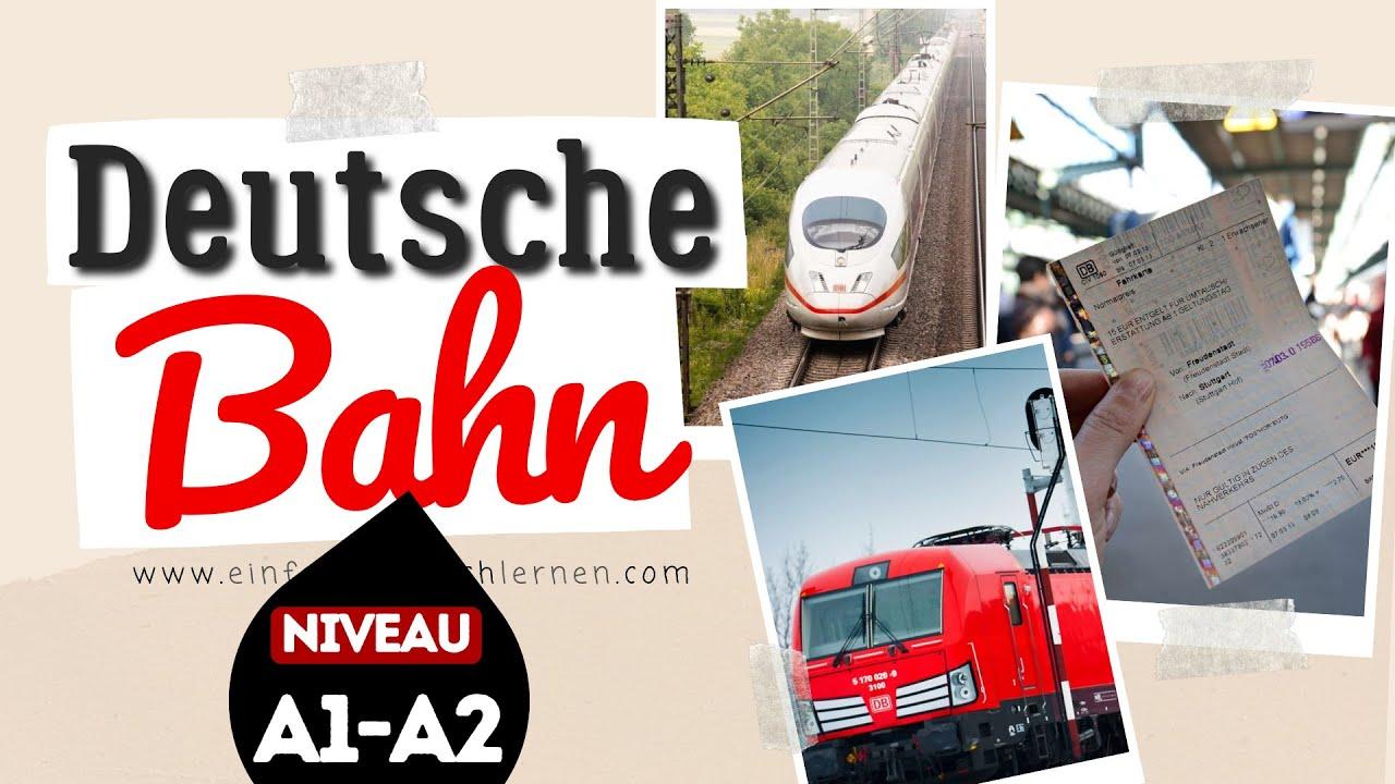#207 Deutsche Bahn [DB] - Deutsch lernen durch Hören | Deutsch lernen mit Geschichten - Niveau A1-A2