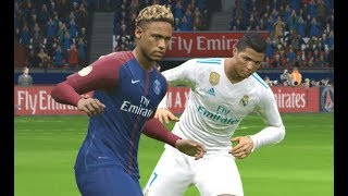 [PC] Neymar vs Real Madrid - Gameplay Nouveaux Maillots 2018 PES 2017