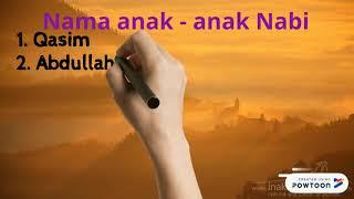 Nama Anak - anak Nabi Muhammad s.a.w