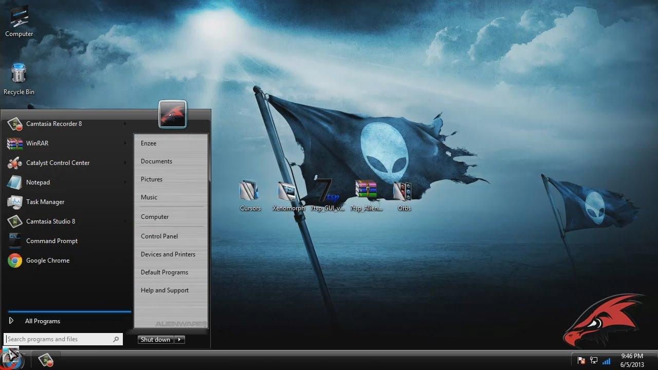 Windows 8 Theme - Alienware Skinpack