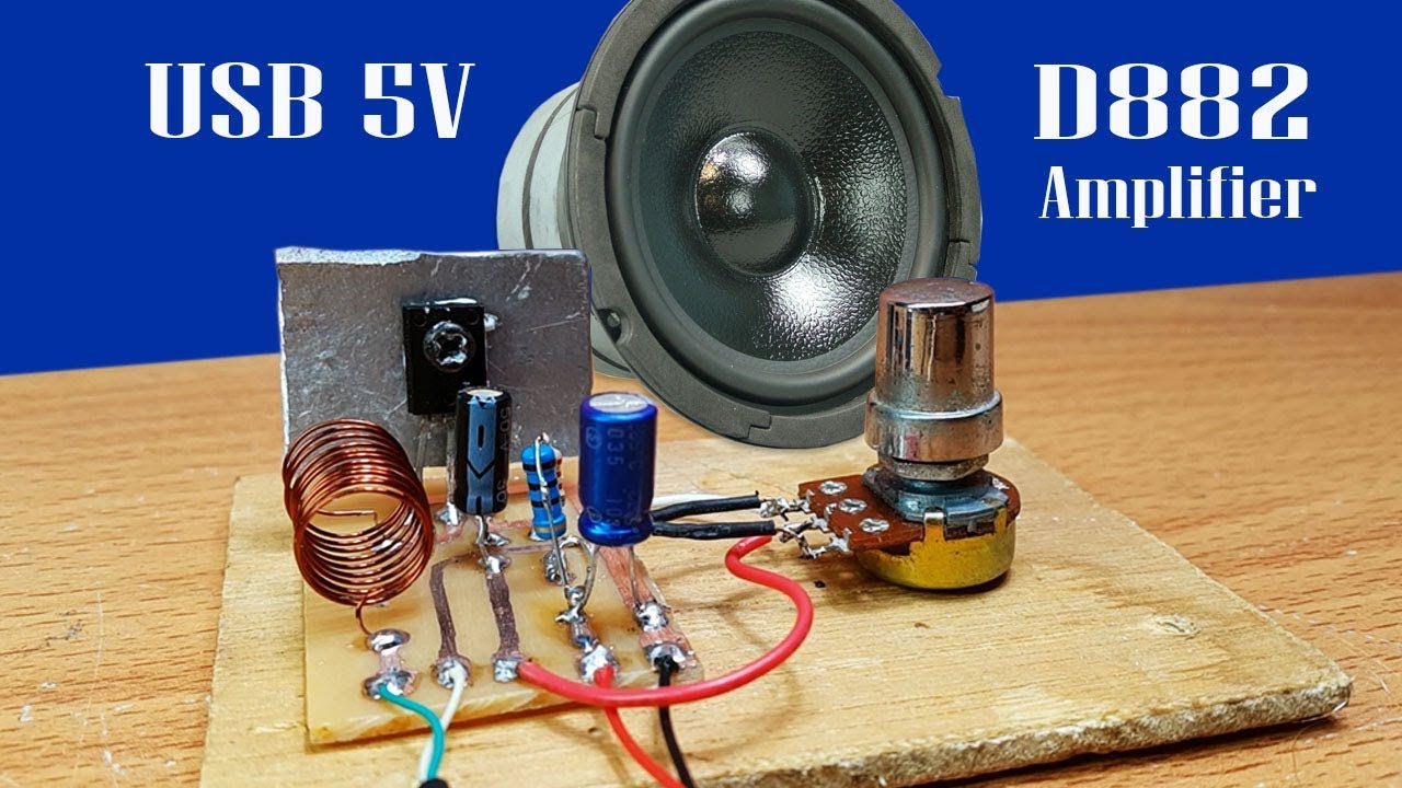 Power Ampli Mini Dengan Transistor : how to make easy mini amplifier by transistor d882 using power usb 5v youtube ~ Russianpoet.info Haus und Dekorationen