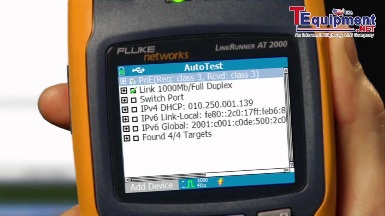 Fluke Networks How To Test Network Connectivity In 10 Seconds Youtube Cable 2 Way Switch