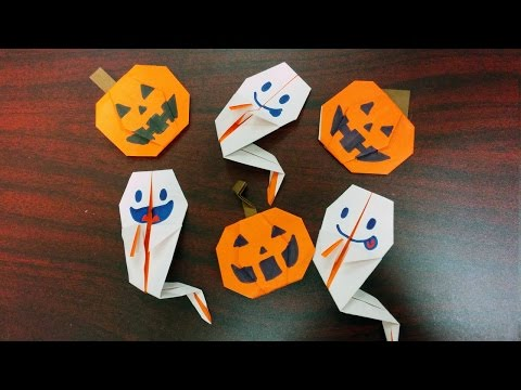How to Make Ghost and Pumpkin Origami