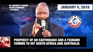 PROFECIA: TERREMOTO Y TSUNAMI GOLPÉA A  SUDÁFRICA Y AUSTRALIA  PROFETA DR  OWUOR
