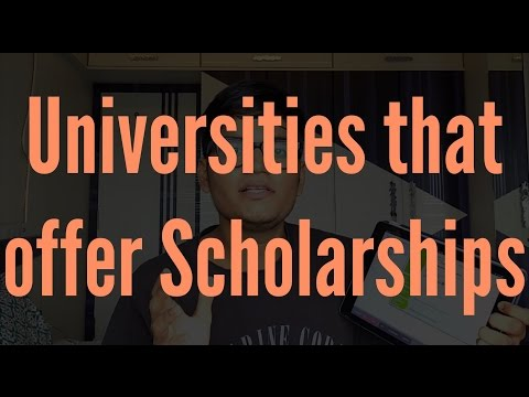 "Selecting Universities that offer Scholarship to International Students - ""Undergrad in US"""